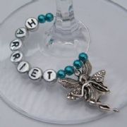 Flower Fairy Personalised Wine Glass Charm